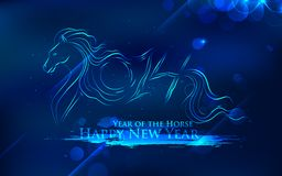 Horse New Year 2014. Illustration of abstract Horse New Year 2014 royalty free illustration