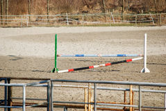 Horse obstacle Stock Image