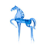 Horse out of the blue glass. Horse out of the blue glass, isolated on white background Royalty Free Stock Images