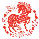 Horse paper cut. 2014 year Royalty Free Stock Images