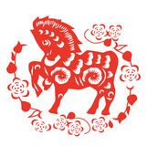 Horse paper cut Stock Photography
