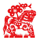 Horse paper cut. 2014 year Royalty Free Stock Photography
