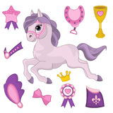 Horse Paper Doll Stock Image