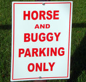 Horse Parking Only Sign Royalty Free Stock Images