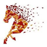 Horse particles icon Stock Photos