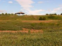 Horse Pasture. In Fish Creek Park, Calgary, Alberta, Canada Stock Photo