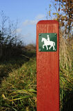 Horse Path Sign Royalty Free Stock Photos