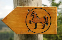 Horse path sign Stock Photography