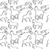 Horse pattern Royalty Free Stock Photo