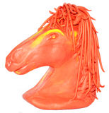 Horse plasticine yellow red Royalty Free Stock Photos