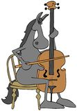 Horse playing a cello Royalty Free Stock Image