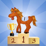 Horse on the podium Royalty Free Stock Photos