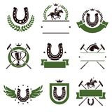 Horse and polo set. Vector Royalty Free Stock Image