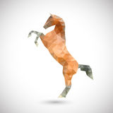 Horse of polygons Royalty Free Stock Photo