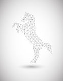 Horse of polygons Royalty Free Stock Image