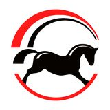 Horse pony equestrian sport silhouette logo. Royalty Free Stock Photos
