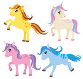 Horse, Pony and Unicorn Set stock illustration