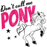 Horse or pony. Vintage cartoon illustration with an angry horse Royalty Free Stock Photography
