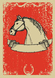 Horse poster.Vector stock photo