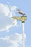 Horse power pole Stock Image