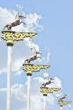 Horse power pole Royalty Free Stock Image
