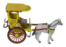 Horse Pulling a Passenger Carriage Royalty Free Stock Photography