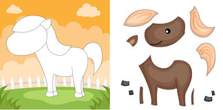 Horse puzzle Stock Photos