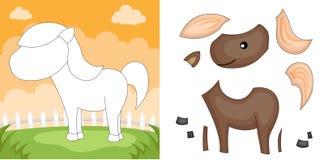 Horse puzzle Stock Photos