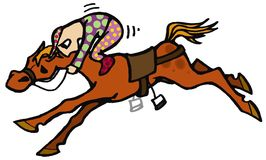Horse race Royalty Free Stock Images
