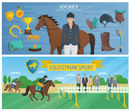 Horse Race Banners Royalty Free Stock Image