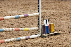Horse race barrier detail Royalty Free Stock Photos