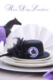 Horse Race Day Ladies Luncheon table setting. Stock Images