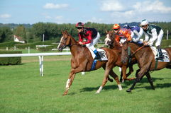 Horse race at Deauville, France Stock Photos