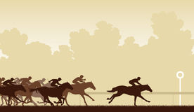 Horse race stock illustration
