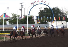 Horse Race Finish Royalty Free Stock Photos