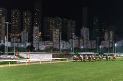 Horse Race, Happy Valley HongKong Stock Images