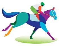 Horse race. Jockey riding a horse Royalty Free Stock Photos