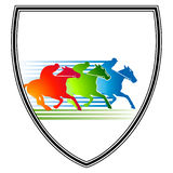 Horse race-meeting. Derby sign Royalty Free Stock Image