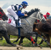 Horse race for the prize Oaks. Stock Photo