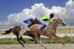 Horse race for the prize Oaks. Horse race for the traditional prize Oaks in Pyatigorsk,the largest in Russia Stock Photo