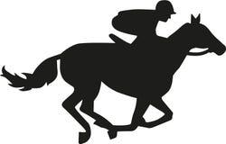 Horse race silhouette. Sports vector vector Royalty Free Stock Photos