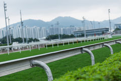 Horse Race track. In Fo Tan, Hong Kong Royalty Free Stock Image