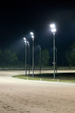 Horse race track at night Royalty Free Stock Photos