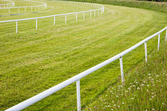 Horse race track turn Stock Image