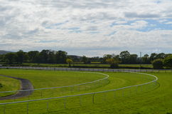 Horse racecourse in Southern England. Royalty Free Stock Photo