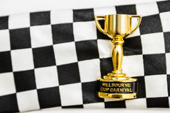 Horse races trophy. Melbourne cup win Stock Photography