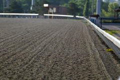 Horse Racing. View of a horse track before a practice early in the morning royalty free stock images