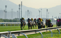 Horse Racing. Sha Tin Racecourse Horse Racing stock photos