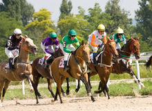 Horse racing. The race for the prize of the Probni,Northern Caucasus,Russia Royalty Free Stock Image