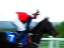 Horse racing. Photo on turf Stock Photos